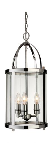Firstlight 8301CH Chrome Imperial Round Lantern - 3 Light